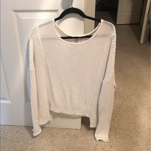 Large white sweater